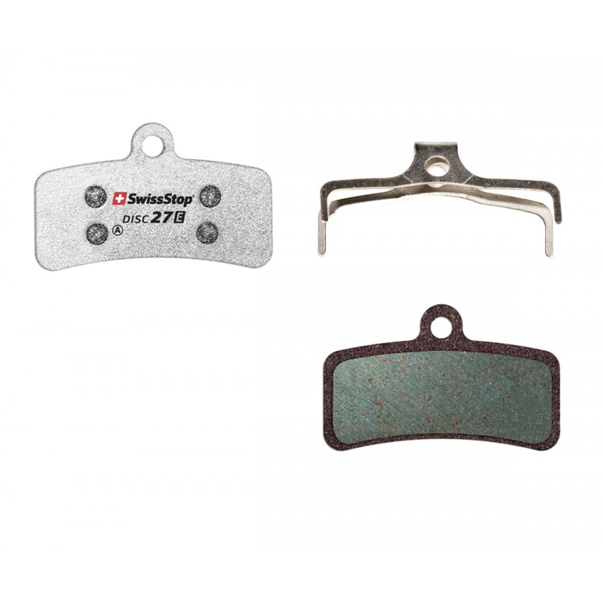 SwissStop Bike-Bremsbelag DISC27E E-Bike, Organisch, Für Shimano Saint, TRP Quadiem, SL, Slate T4