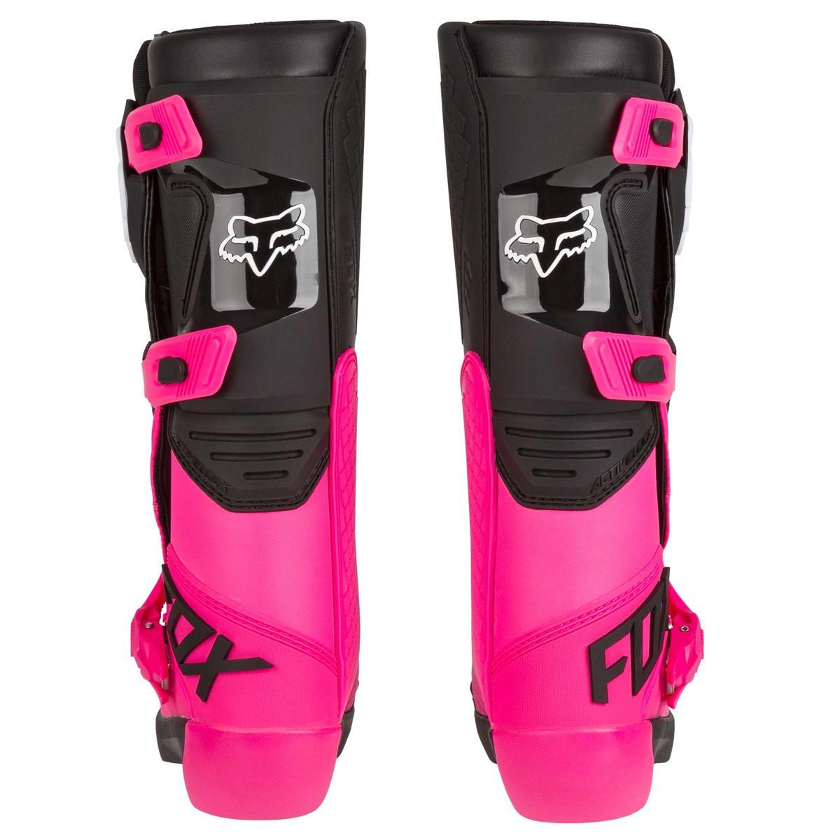 Fox Girls Motocross Stiefel Comp SchwarzPink