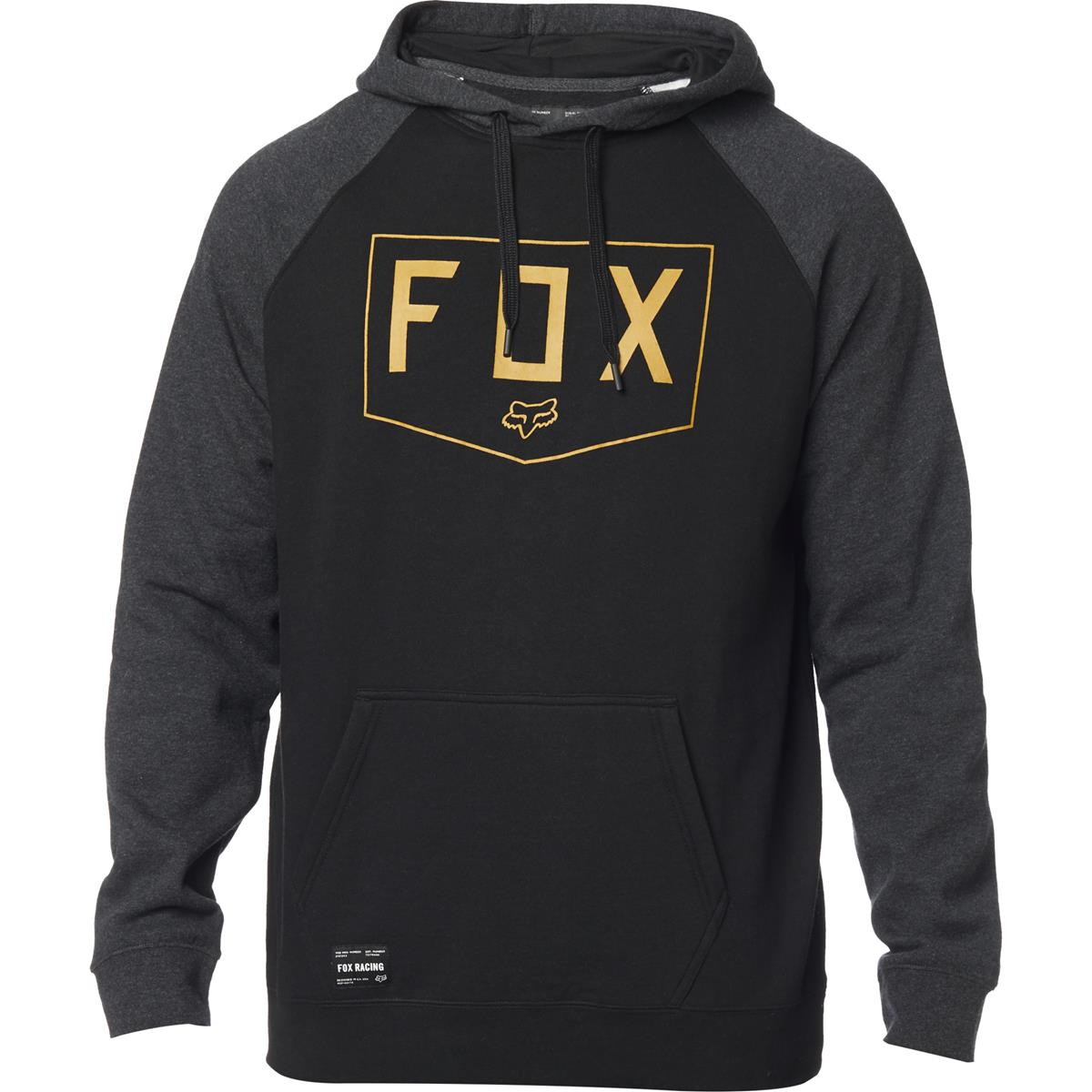 Fox Hoody Shield Raglan Schwarz