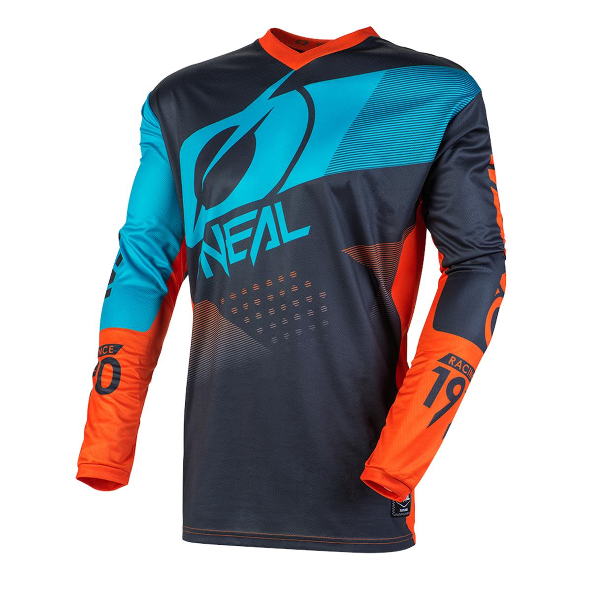 O'Neal Kids Jersey Element Factor - Grau/Orange/Blau