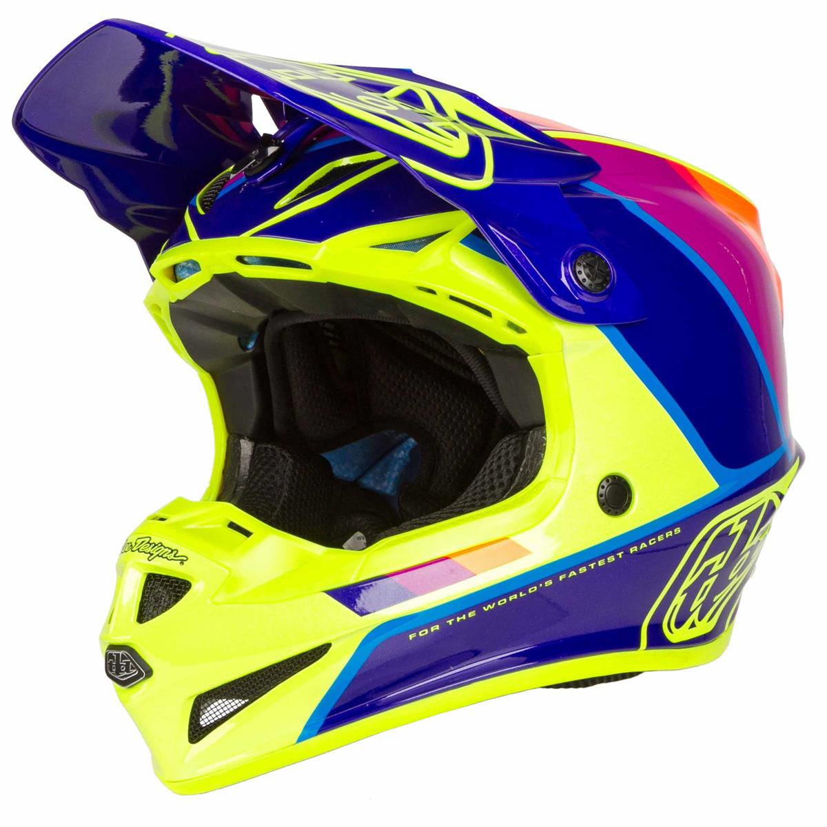 Troy Lee Designs 2019 SE4 Polyacrylite Helmet with MIPS Beta Yellow//Black Medium