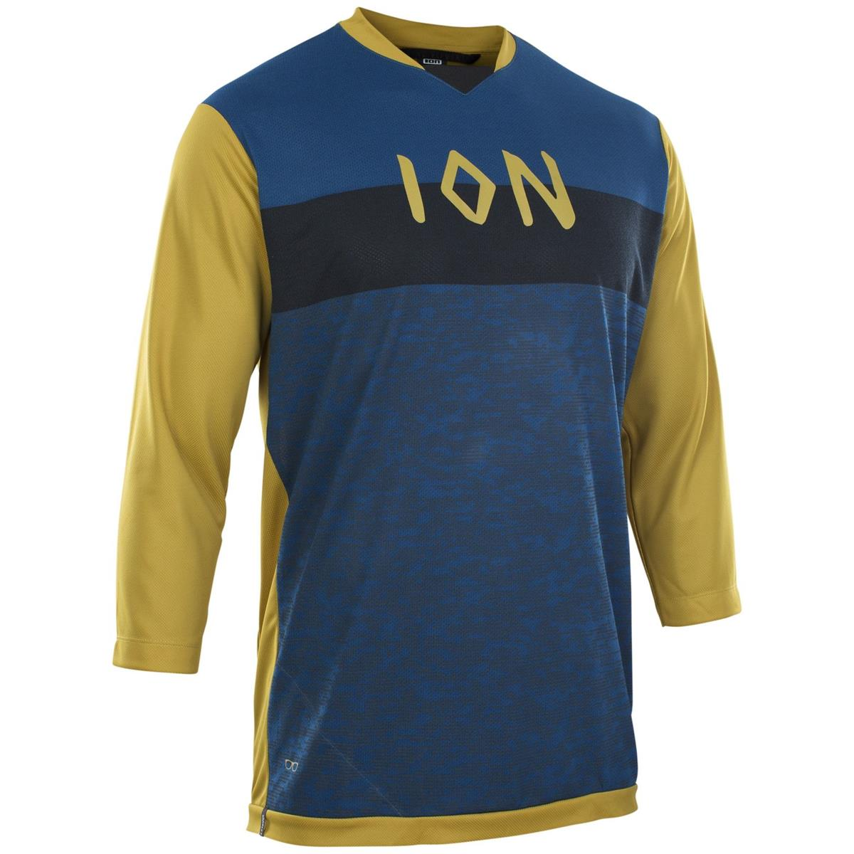 ION Freeride Jersey 3/4 Arm Scrub Amp Rusty Leaves