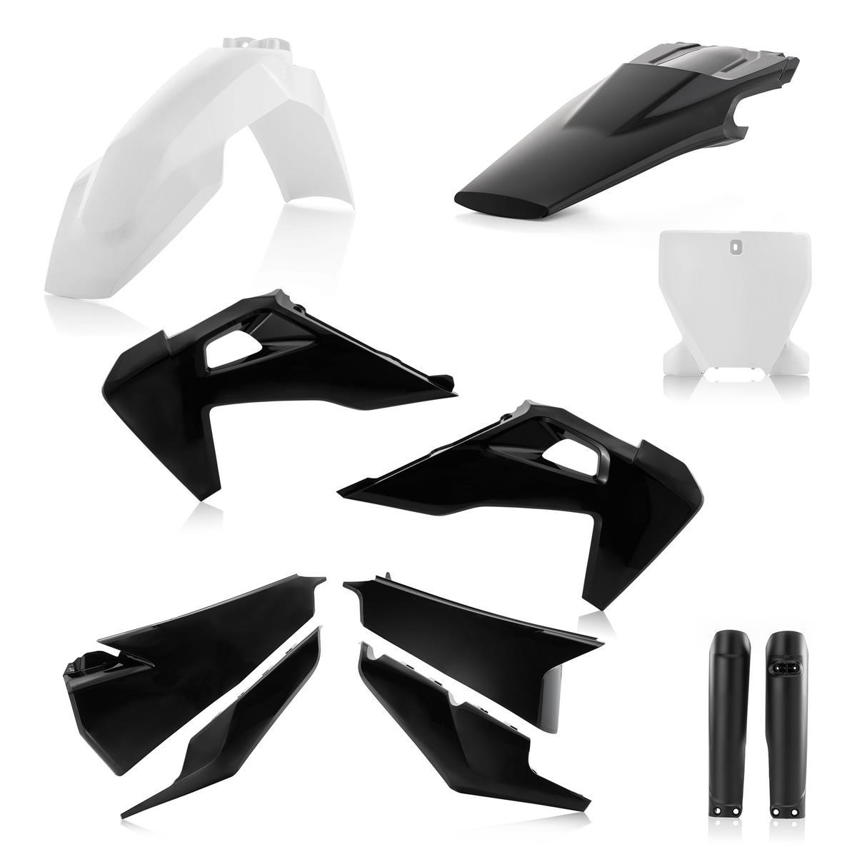 Kit Plastics Husqvarna TC 125 250 FC 350 450 Tx Fx 2019 White Rtech Plastic