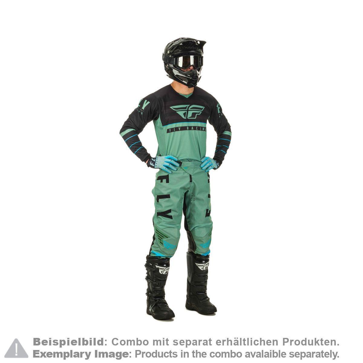 Fly Racing Cross Hose Kinetic Noiz Schwarz//Hi-Vis