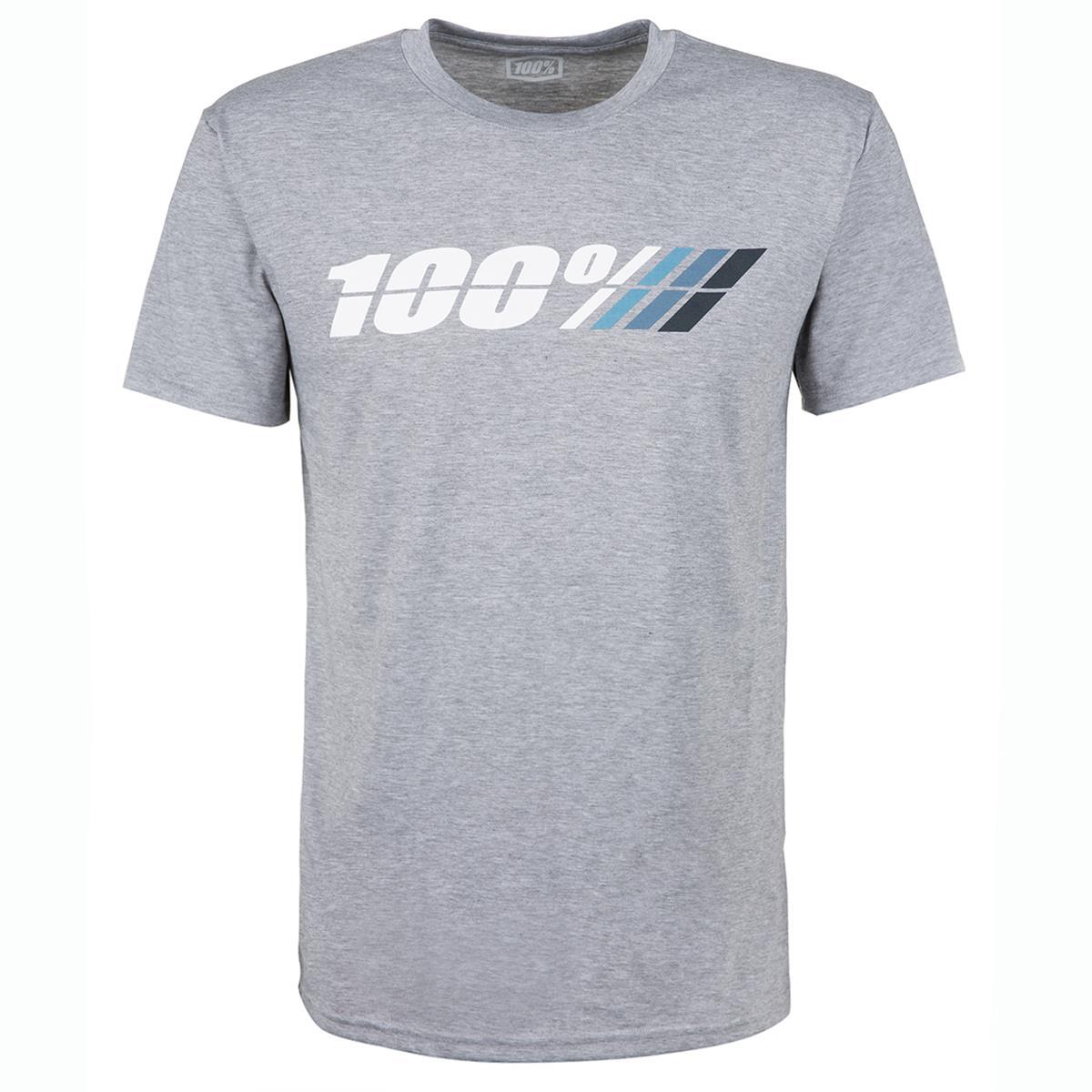 100% Tech T-Shirt Motorrad Grau meliert