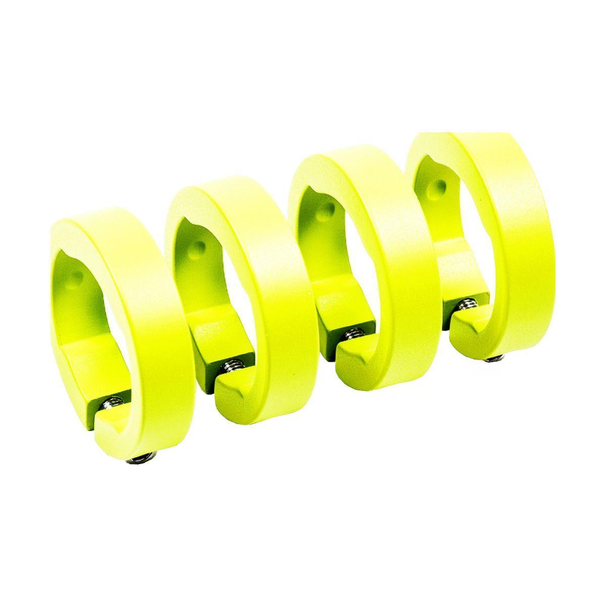 SIXPACK-RACING Klemmringe für Lenkergriffe neon yellow//universal C77