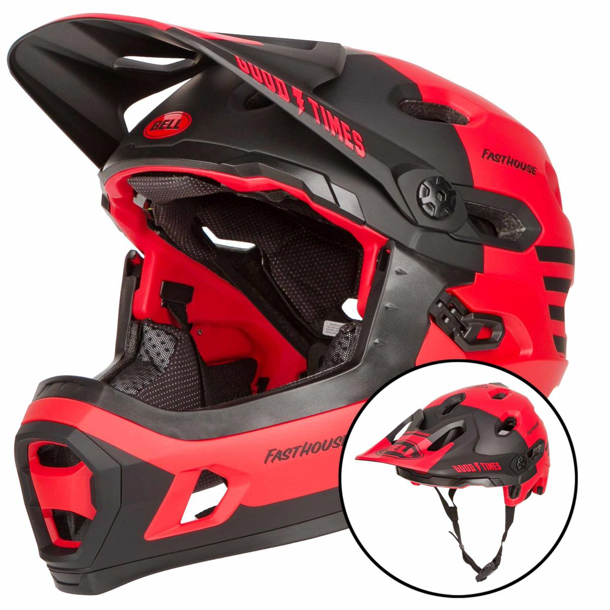 BELL bike Helmet Super DH MIPS Fasthouse Red 2021