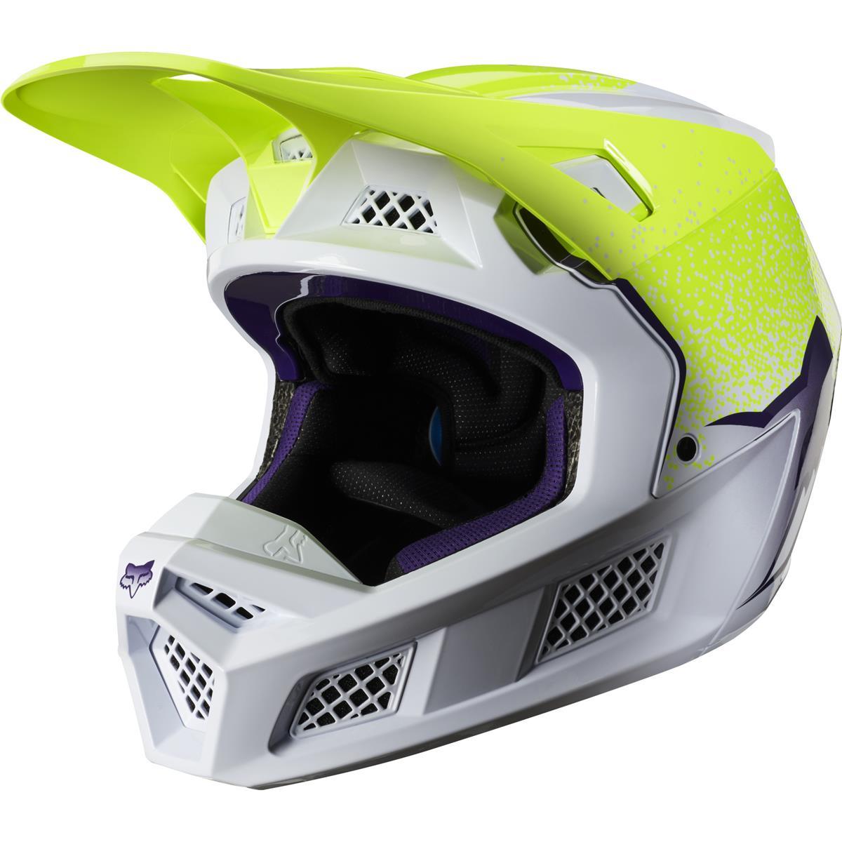 Fox Mx Helmet V3 Honr Limited Edition Flo Yellow Maciag Offroad