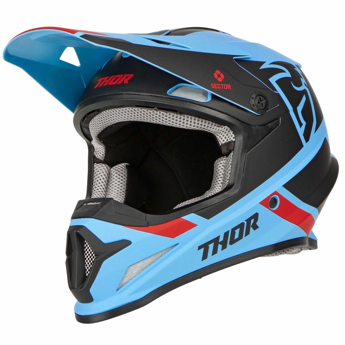 Thor MX Helmet Sector Blue Yellow Green Motocross Enduro Motorcycle XS M XL XXL