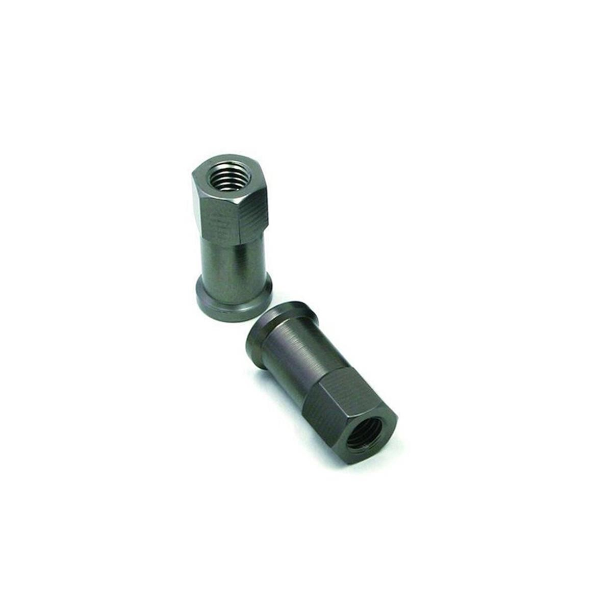 DRC Reifenhalter-Mutter  Aluminium, Titan-Optik
