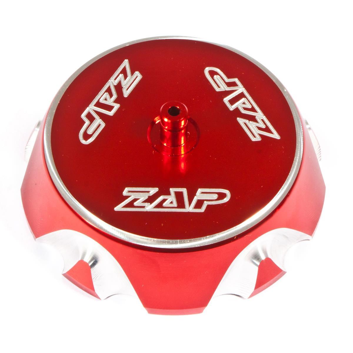 ZAP Fuel Tank Cap Aluminium, Red, Honda, Kawasaki, Yamaha - several models