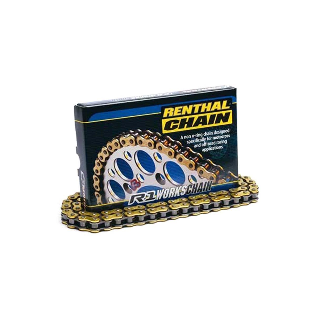 Renthal Kette R1 Gold Non-O-Ring, 420er Teilung