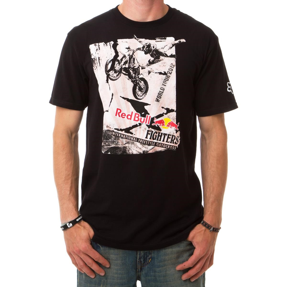 fox red bull x fighters t shirt posterized tour black maciag offroad. Black Bedroom Furniture Sets. Home Design Ideas
