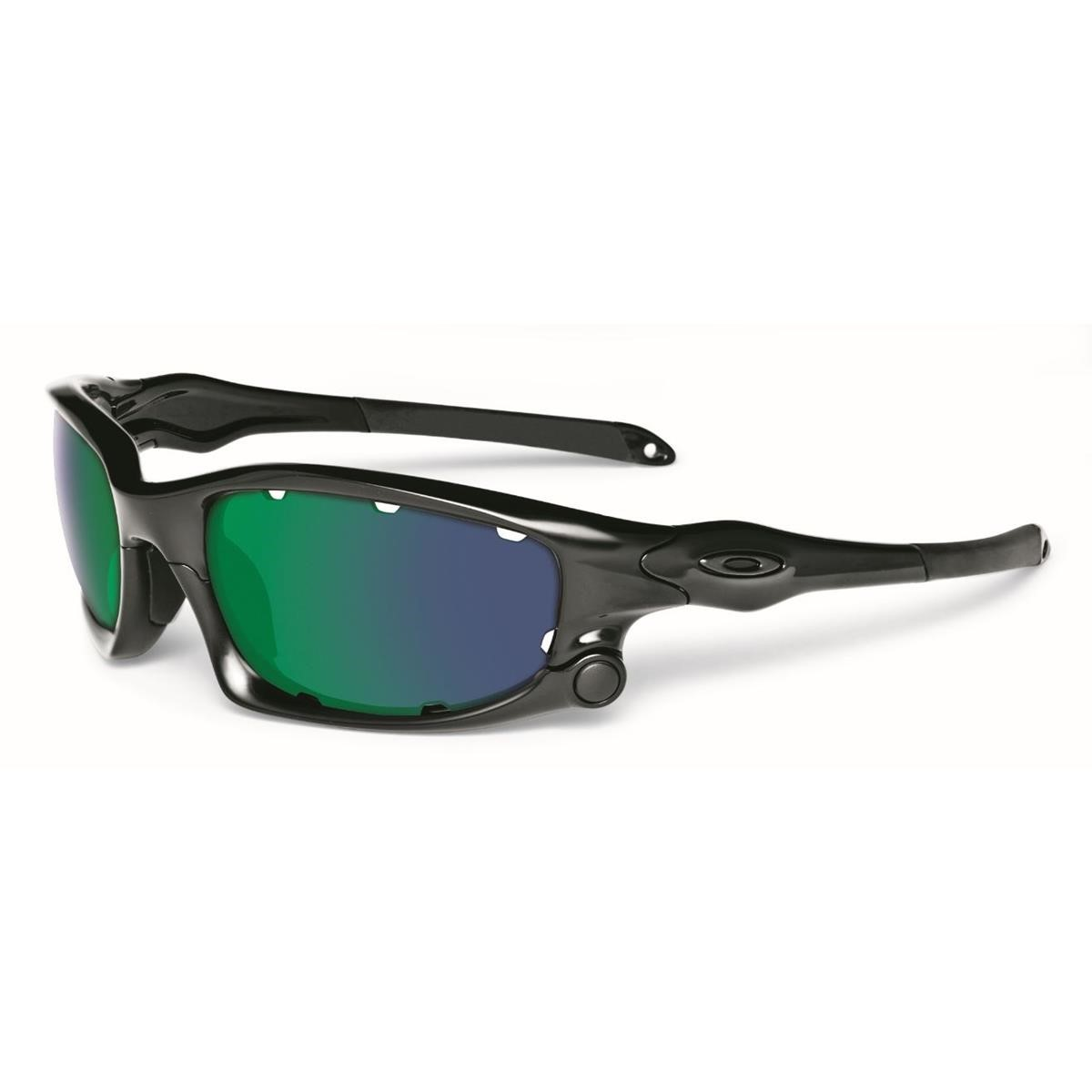 Oakley Sonnenbrille Split Jacket Polished Black/Jade Iridium Vented ;  Persimmon Vented | Maciag Offroad