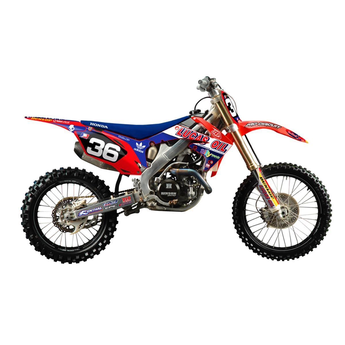 White Honda Dirt Bike