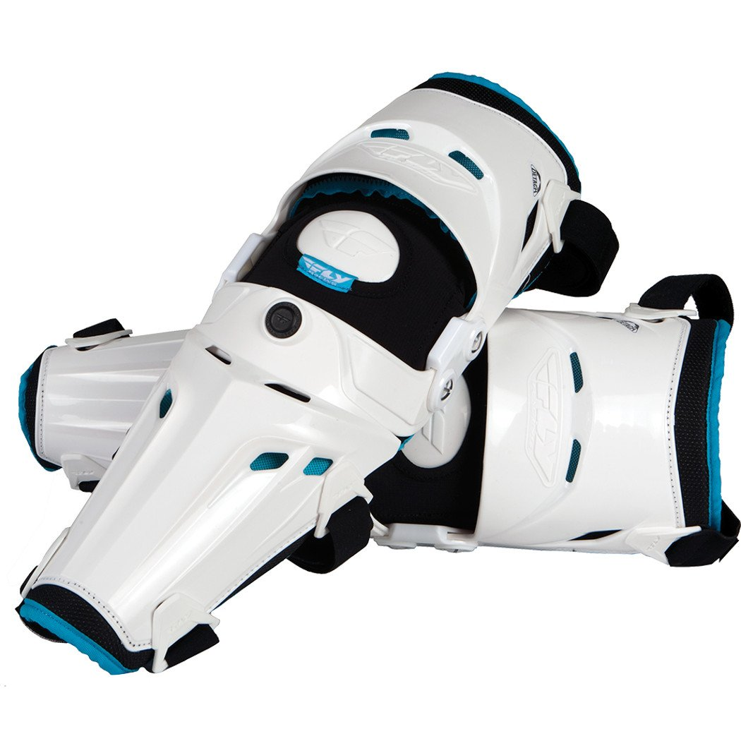 Fly Racing 5 Pivot Knee Guards White
