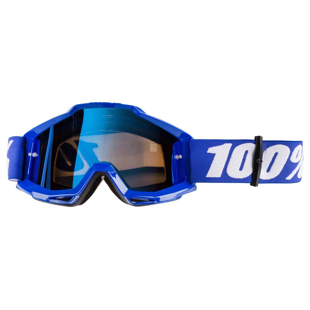 100% Crossbrille The Accuri Reflex Blue - Blau verspiegelt Anti-Fog