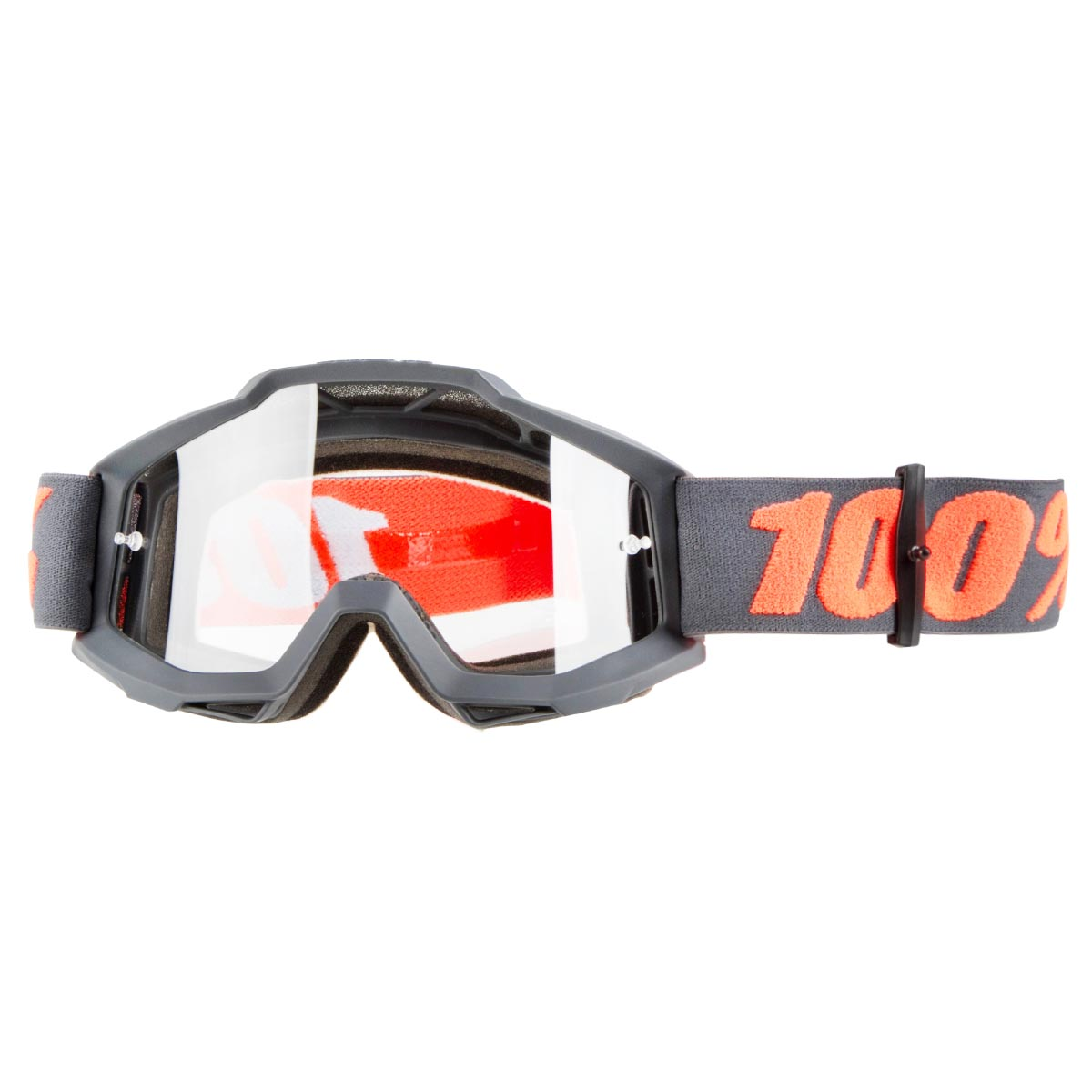 100% Crossbrille The Accuri Gunmetal - Klar Anti-Fog
