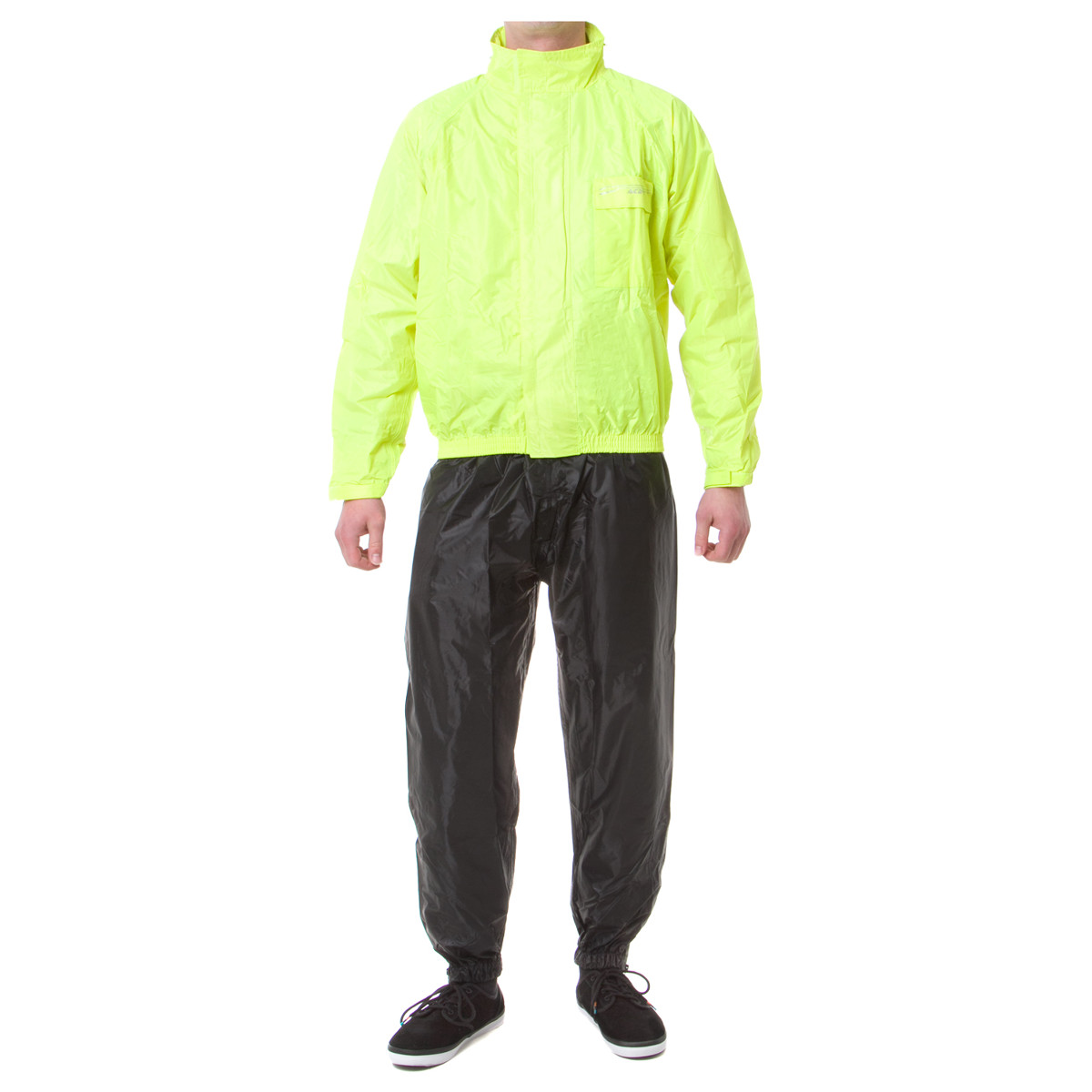 Acerbis Regen-Set Rain Suit Logo Fluo Gelb/Schwarz