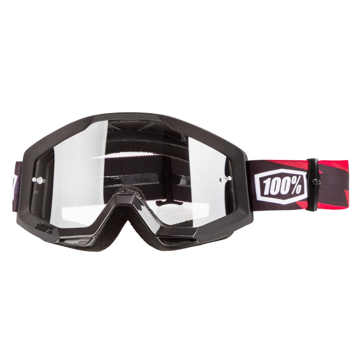 100/% Strata Goggle Slash with Clear Lens