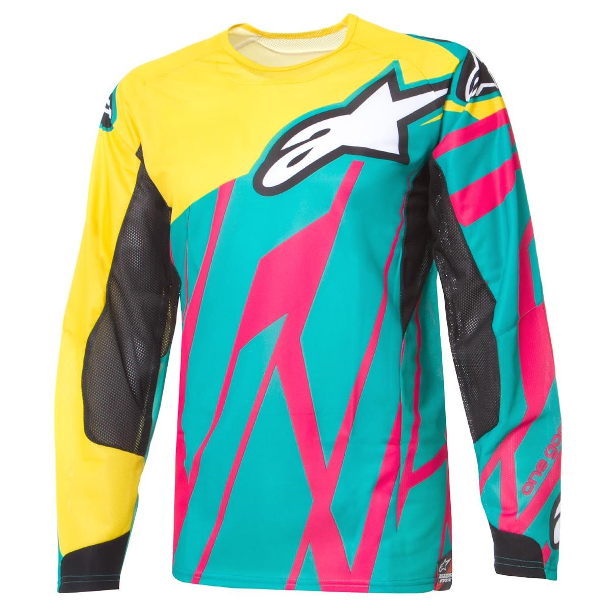 Alpinestars Jersey Techstar Teal/Yellow/Magenta