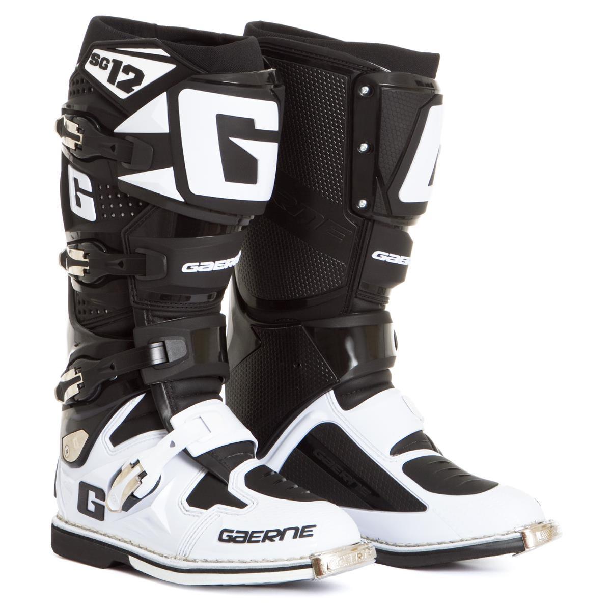 Gaerne Motocross Stiefel SG 12 WeißSchwarz