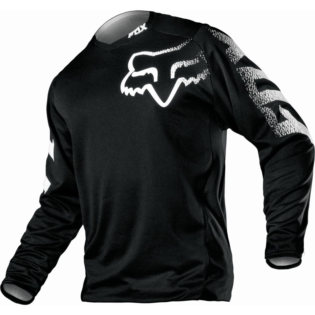 Fox Jersey Blackout Schwarz