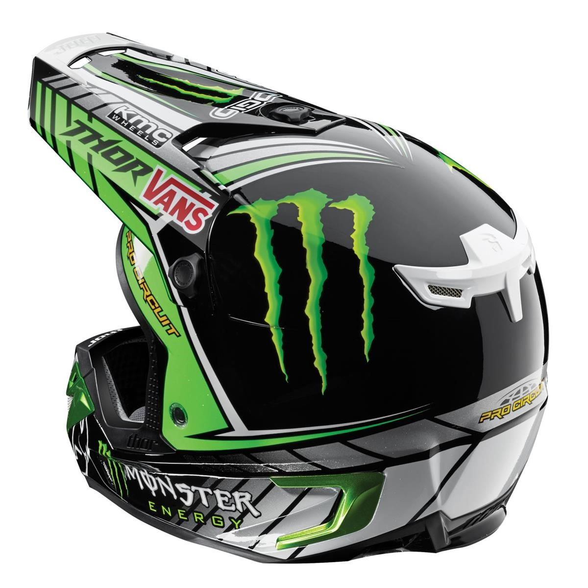 thor helmet verge pro circuit monster black green 2015 maciag offroad. Black Bedroom Furniture Sets. Home Design Ideas