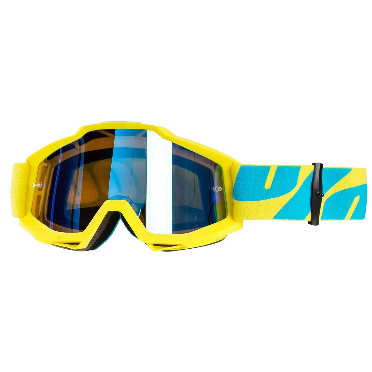 100% Crossbrille The Accuri Fiji - Blau verspiegelt Anti-Fog
