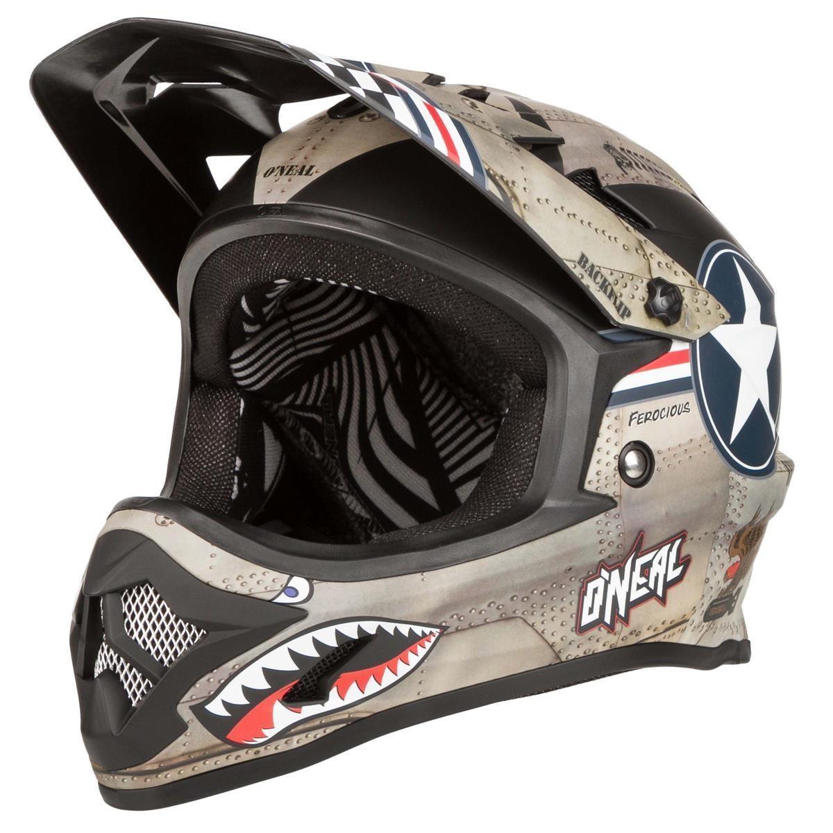 O'Neal Downhill-MTB Helm Backflip Fidlock RL2 Wingman - Metal/Weiß
