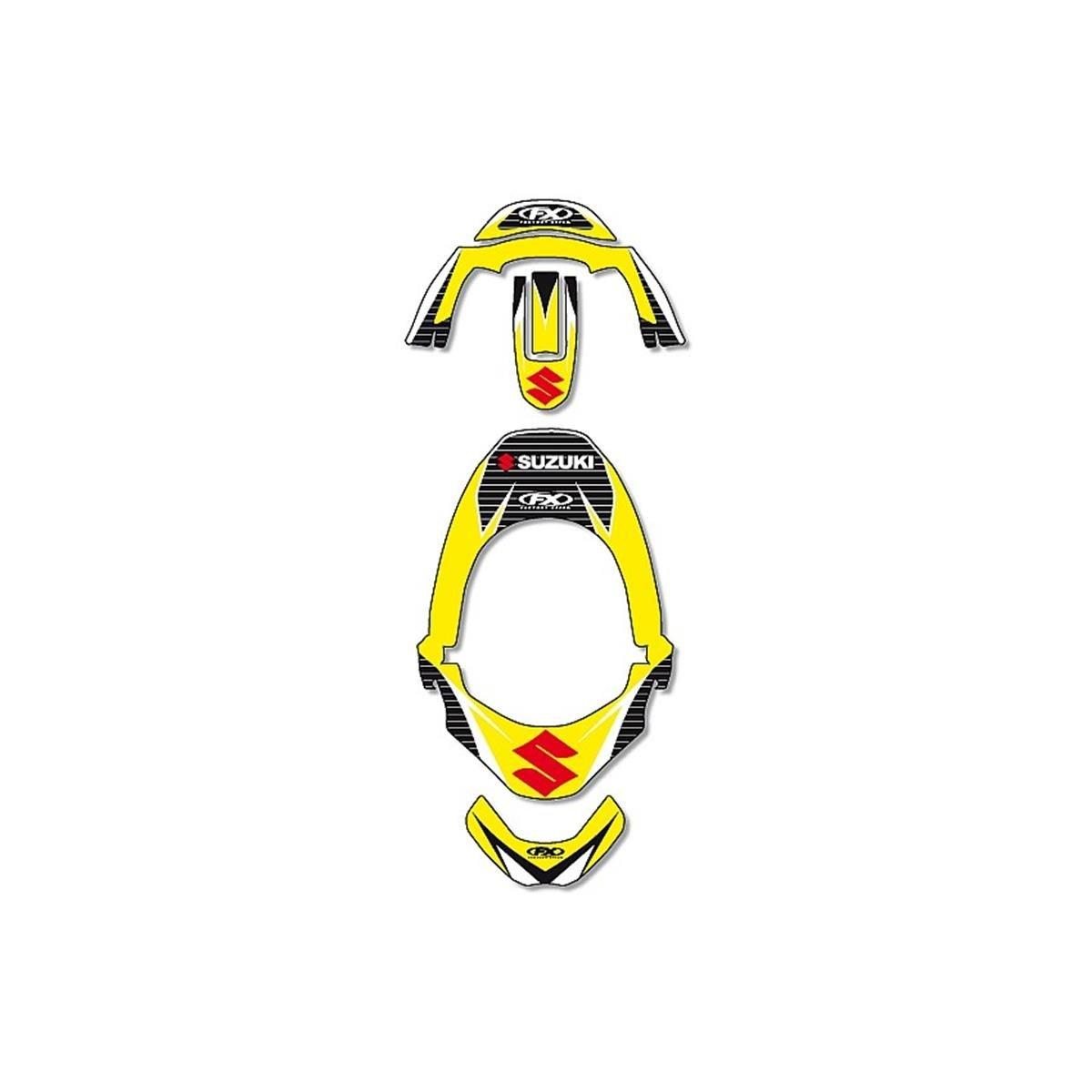 Factory Effex Stickerkit für Nackenschutz Leatt Suzuki