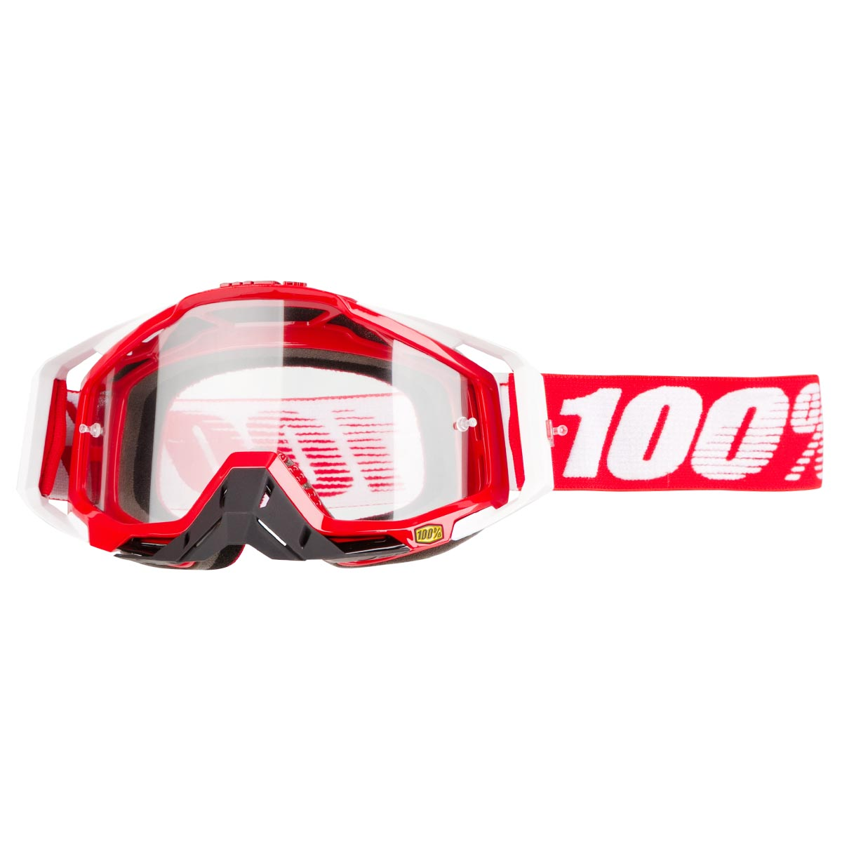 100% Crossbrille The Racecraft Fire Red - Klar Anti-Fog