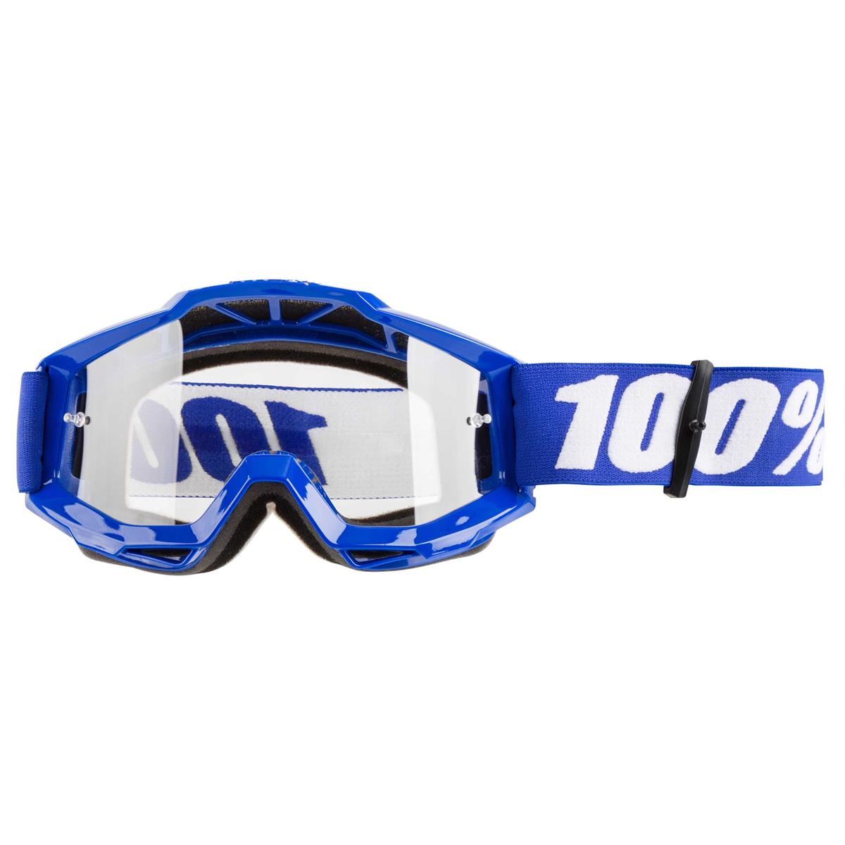 100% Crossbrille The Accuri Reflex Blue, OTG - Klar Anti-Fog