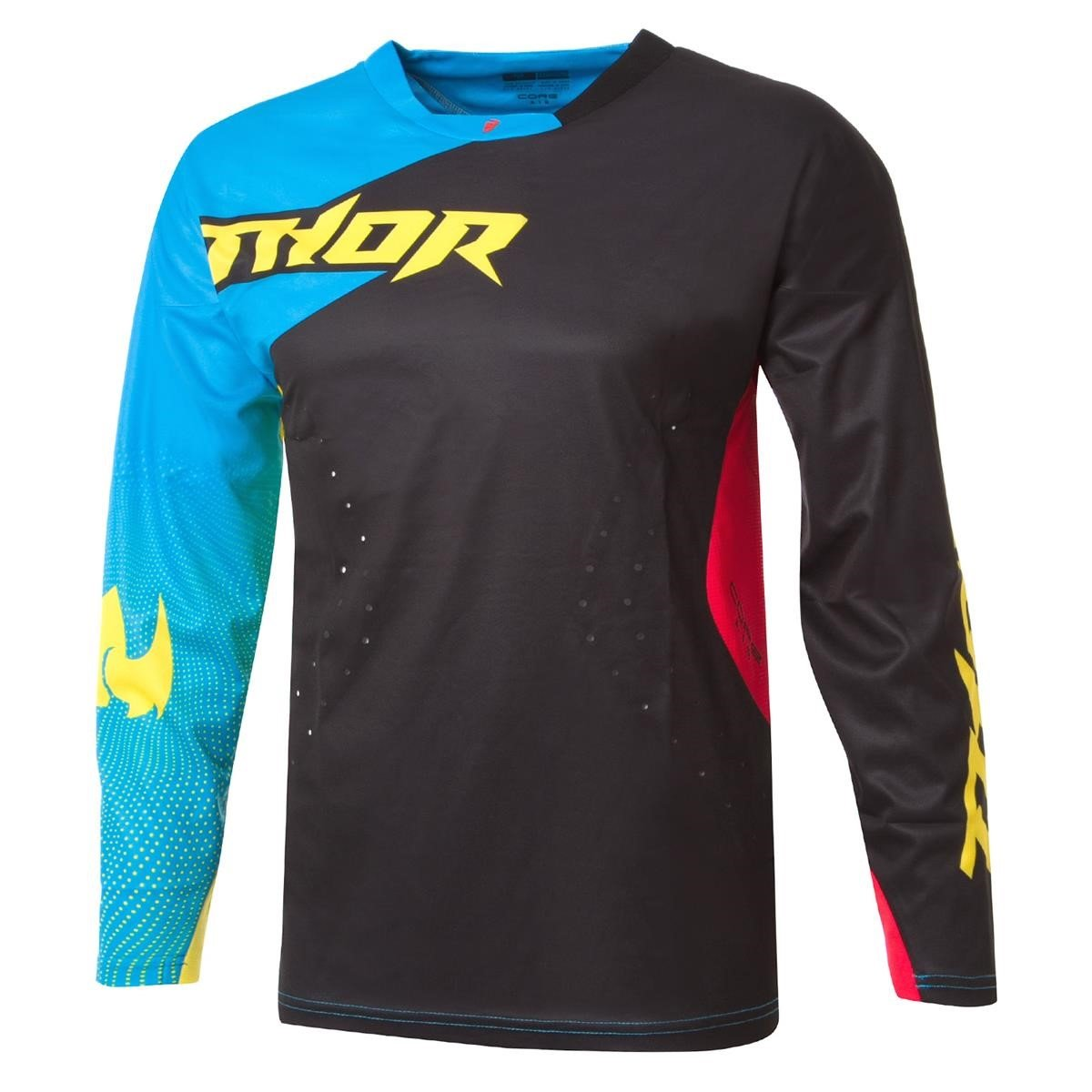 Thor Jersey Core Air Divide Schwarz/Multi
