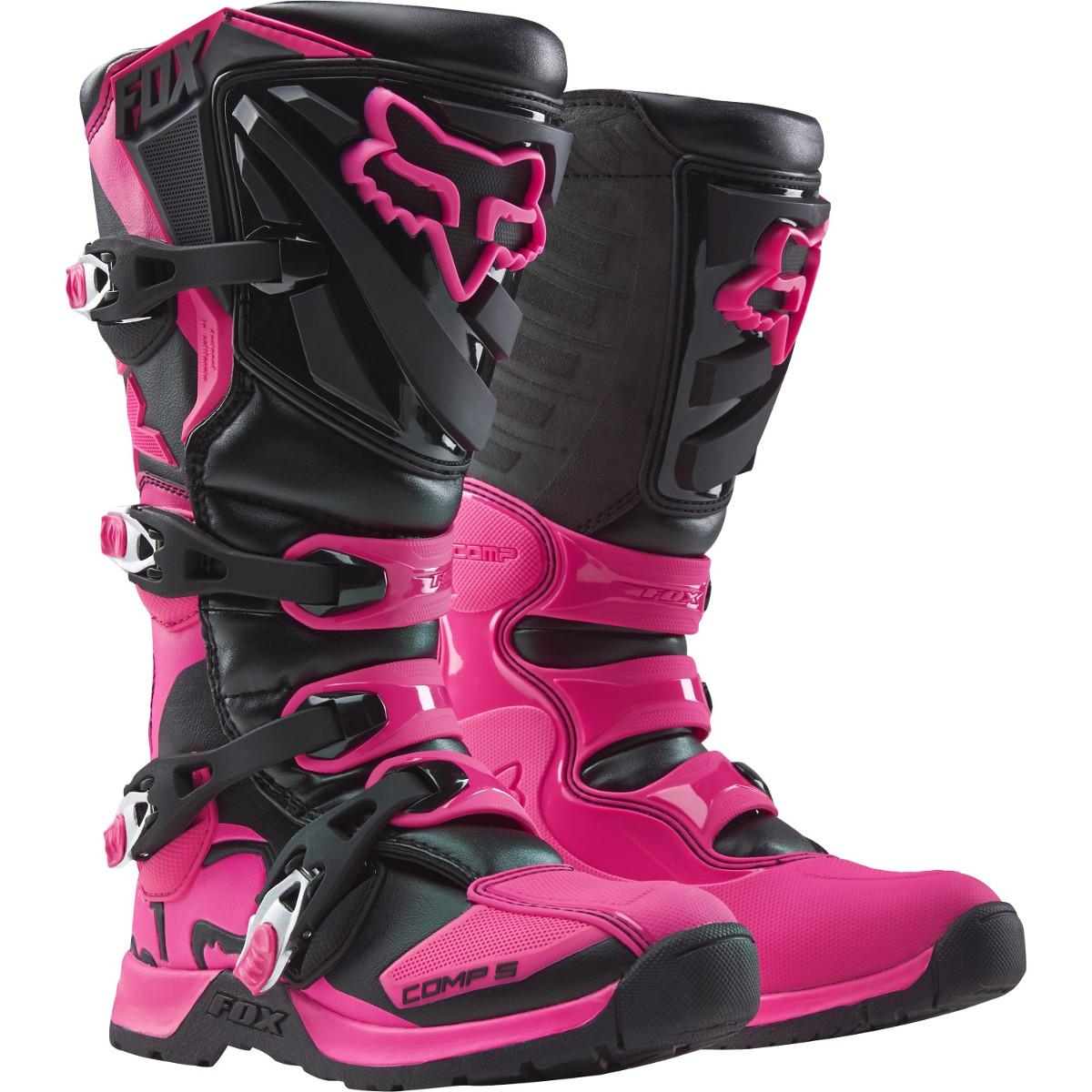 Fox Girls Motocross-Stiefel Comp 5 Schwarz/Pink
