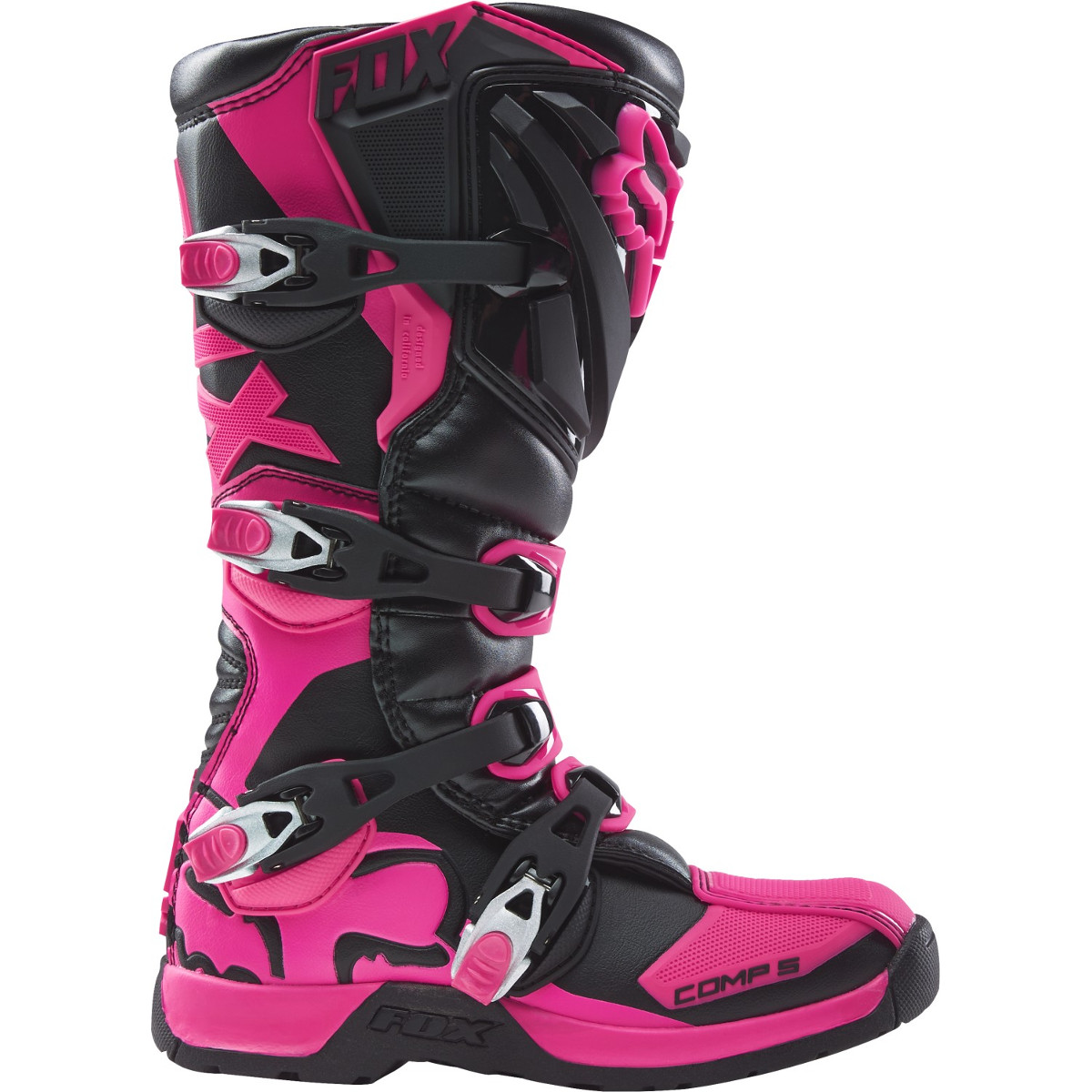 fox girls motocross stiefel comp 5 schwarz pink 2019 maciag offroad. Black Bedroom Furniture Sets. Home Design Ideas