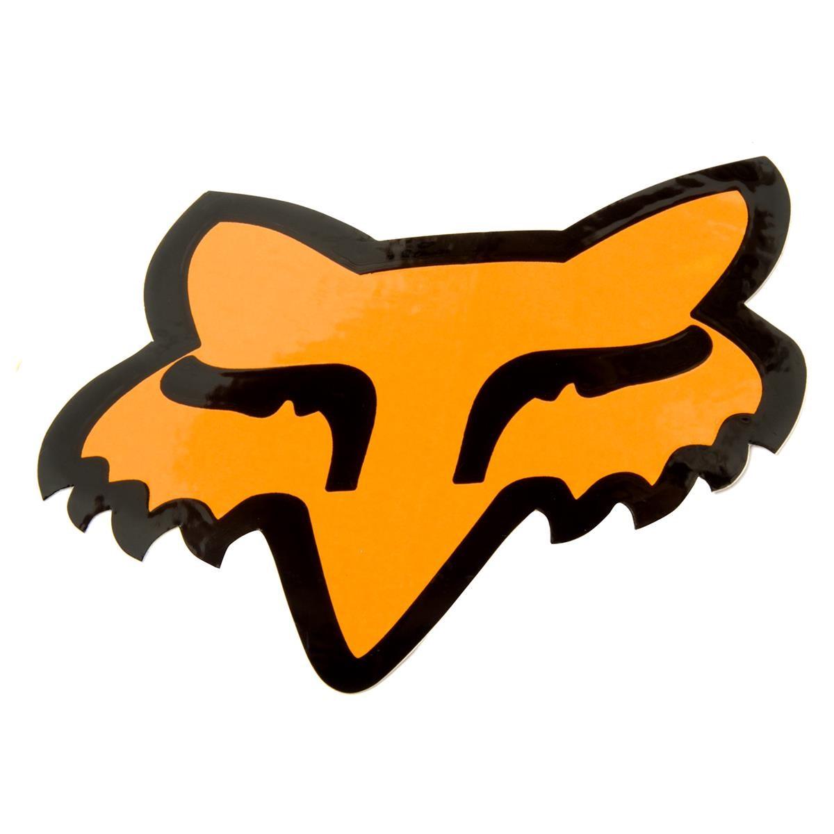 Fox Sticker Fox Head Flo Orange - 6 cm