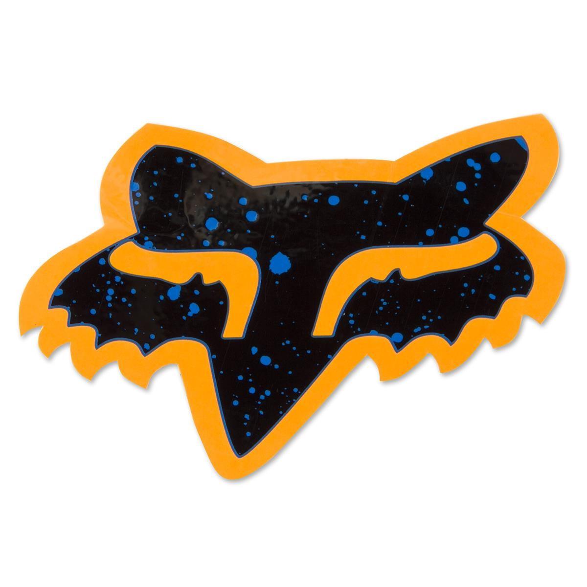 Fox Sticker Splatter Orange/Blau - 10 cm