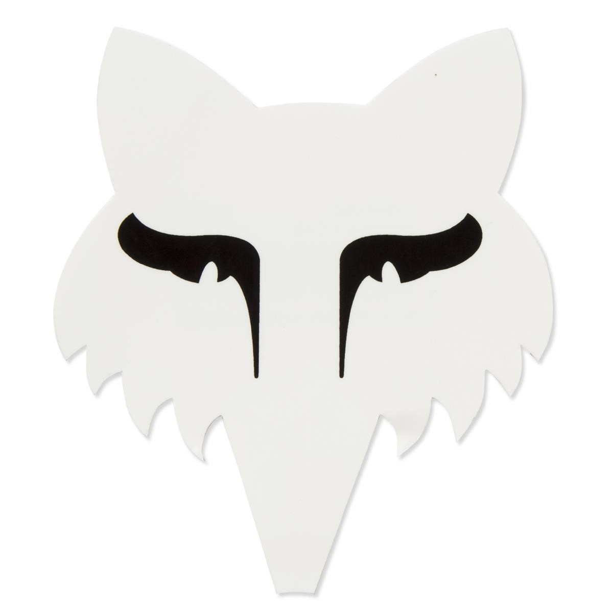 Fox Sticker Legacy Head White - 9 cm