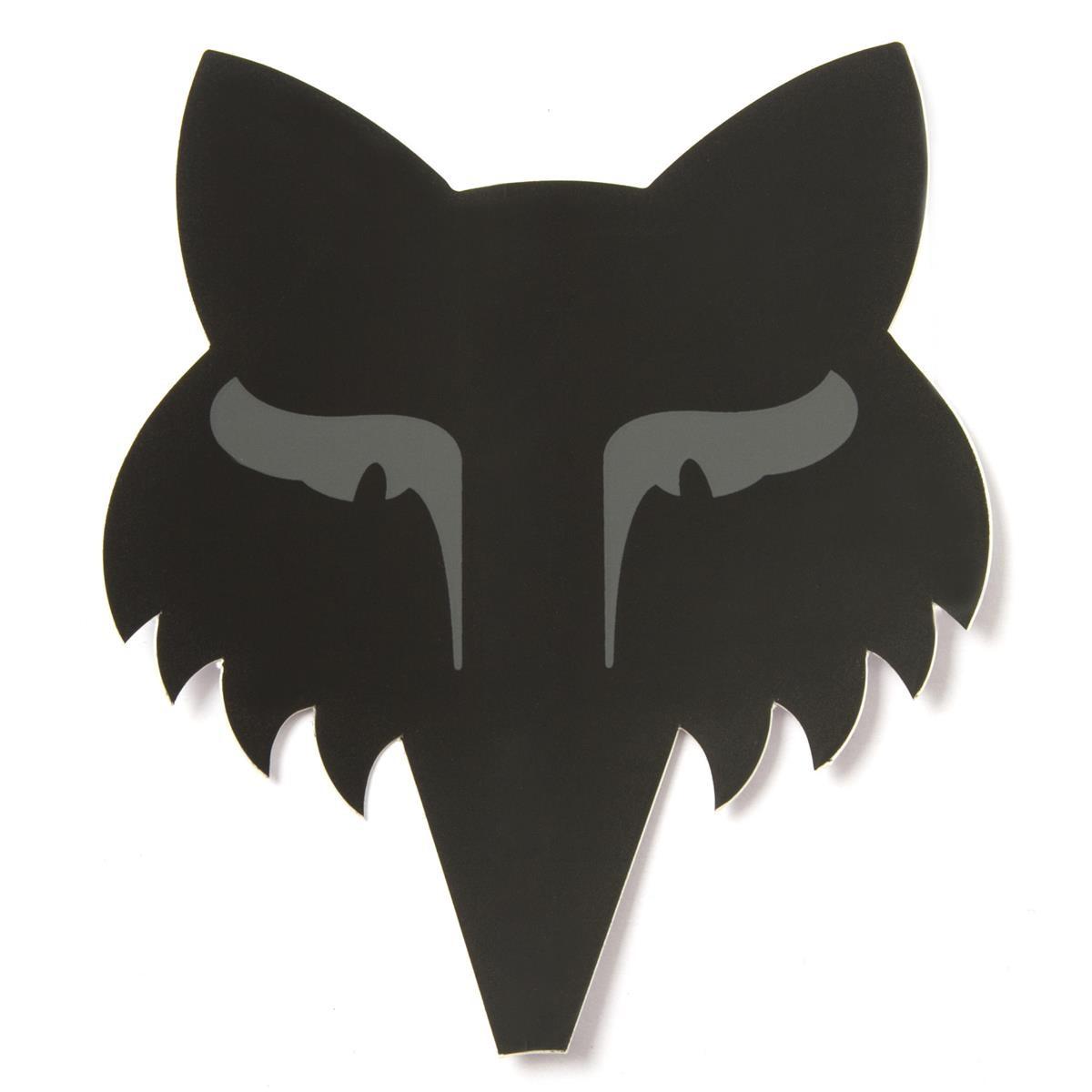 Fox Sticker Legacy Head Matt Schwarz - 9 cm