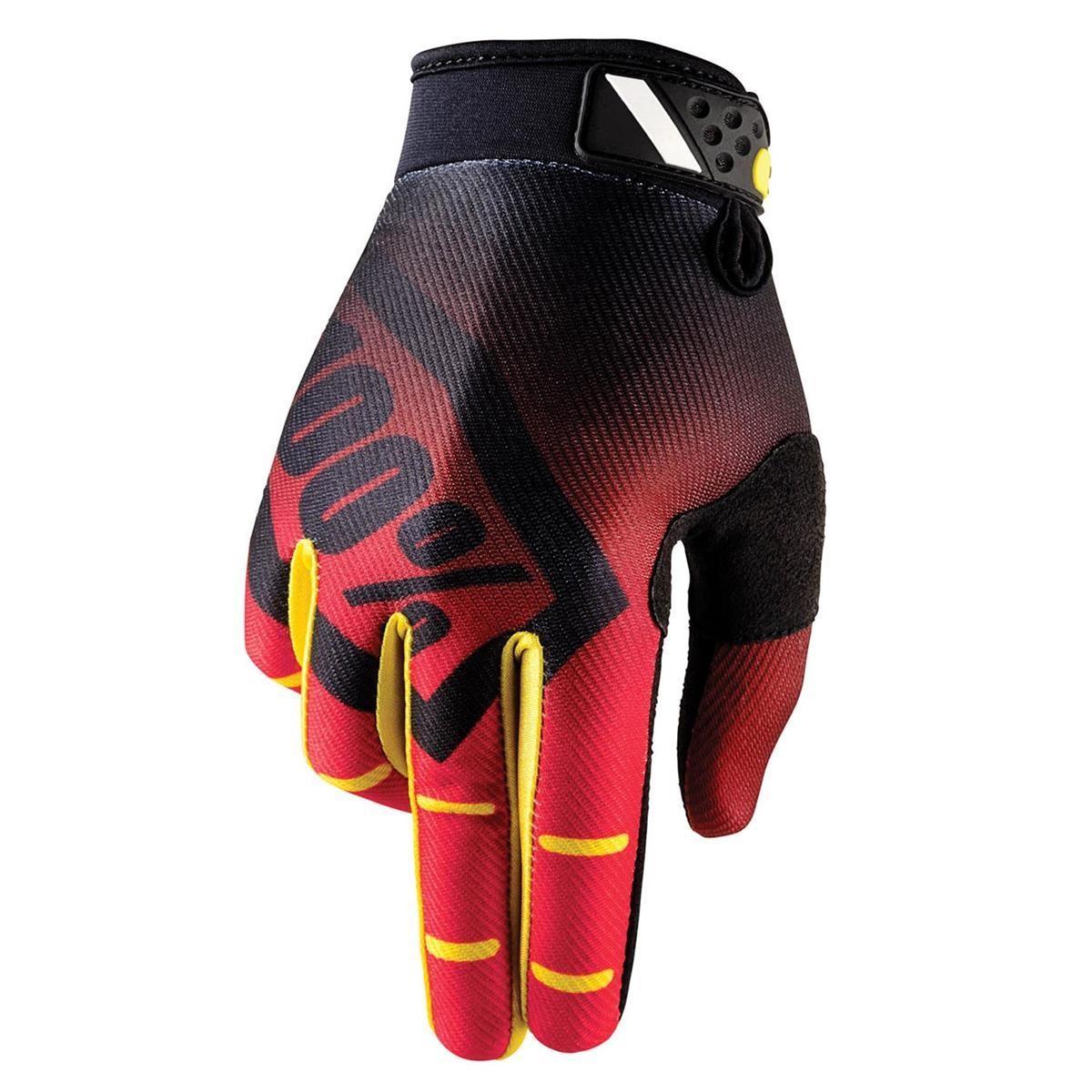 100% Bike Gloves Ridefit Corpo Red