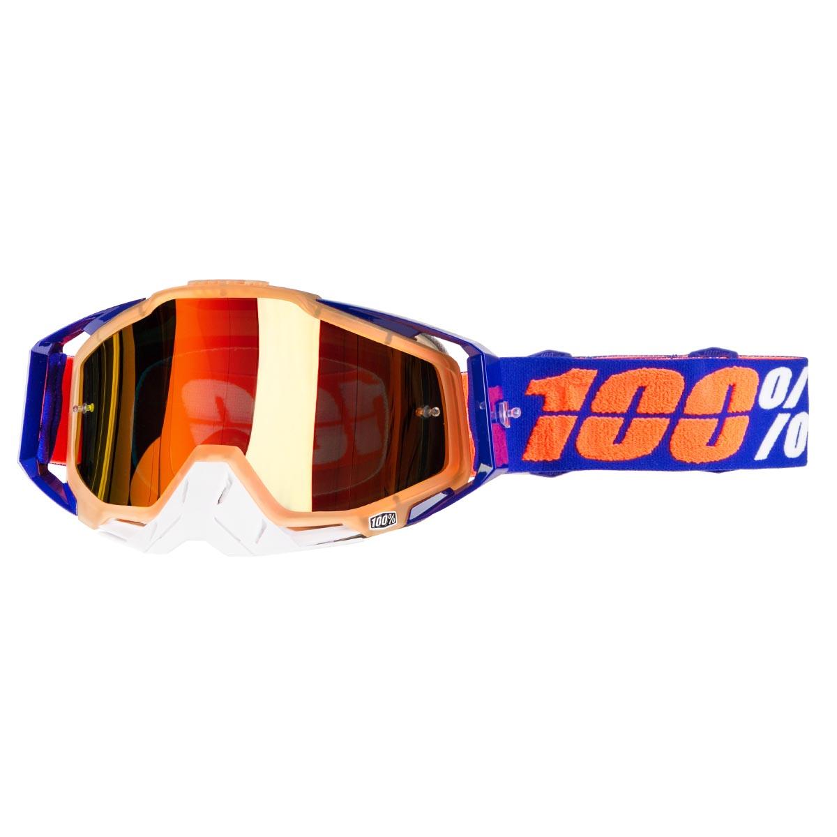 100% Crossbrille The Racecraft Derestricted - Rot verspiegelt Anti-Fog