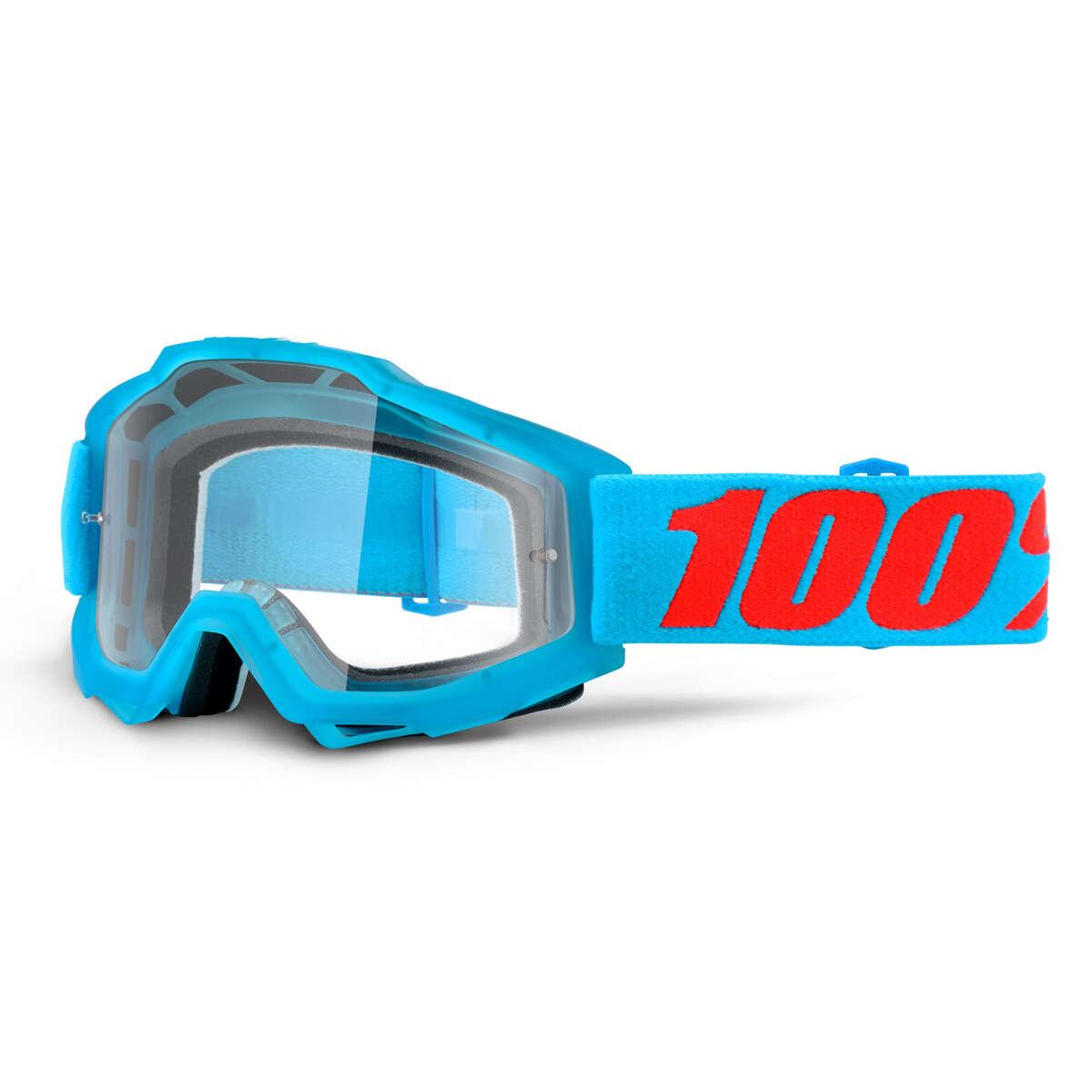 100% Crossbrille The Accuri Acidulous Cyan - Klar Anti-Fog
