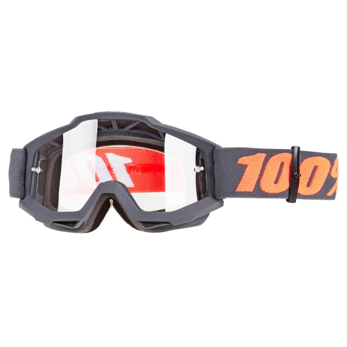 100% Crossbrille The Accuri Gunmetal, OTG - Klar Anti-Fog