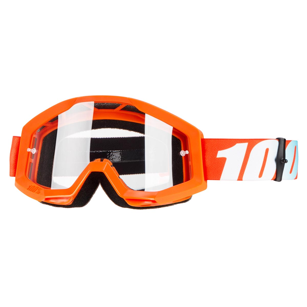 100% Crossbrille The Strata Orange - Klar Anti-Fog
