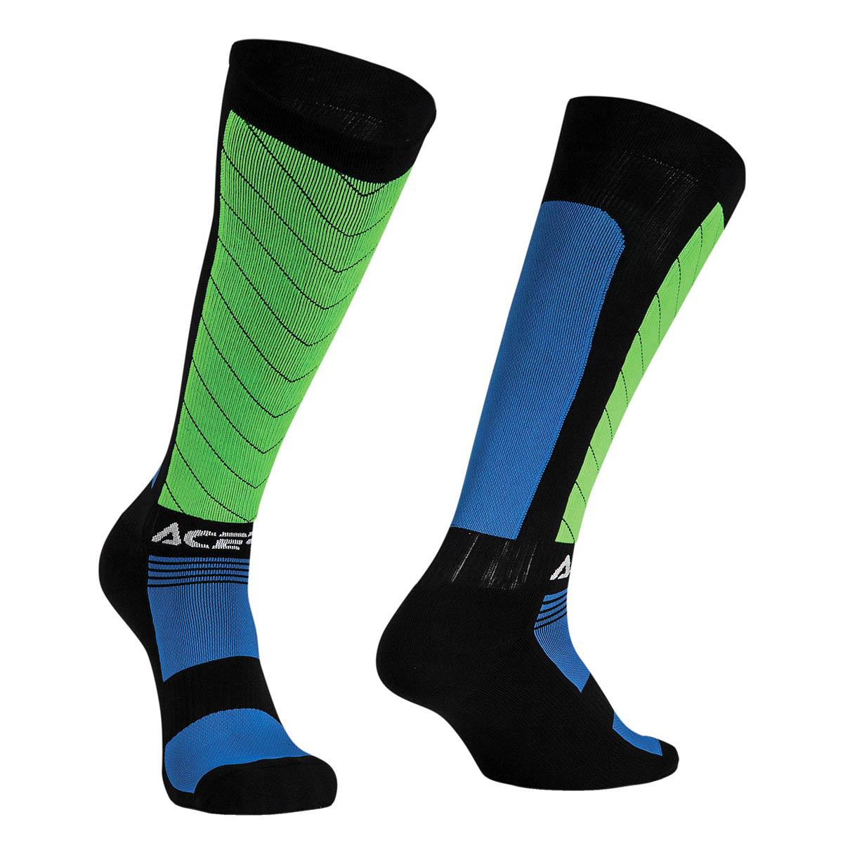 Acerbis Socken MX Compression Schwarz/Blau