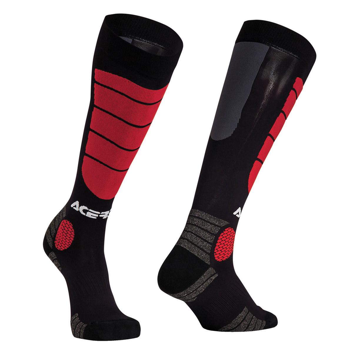 Acerbis Socken MX Impact Schwarz/Rot