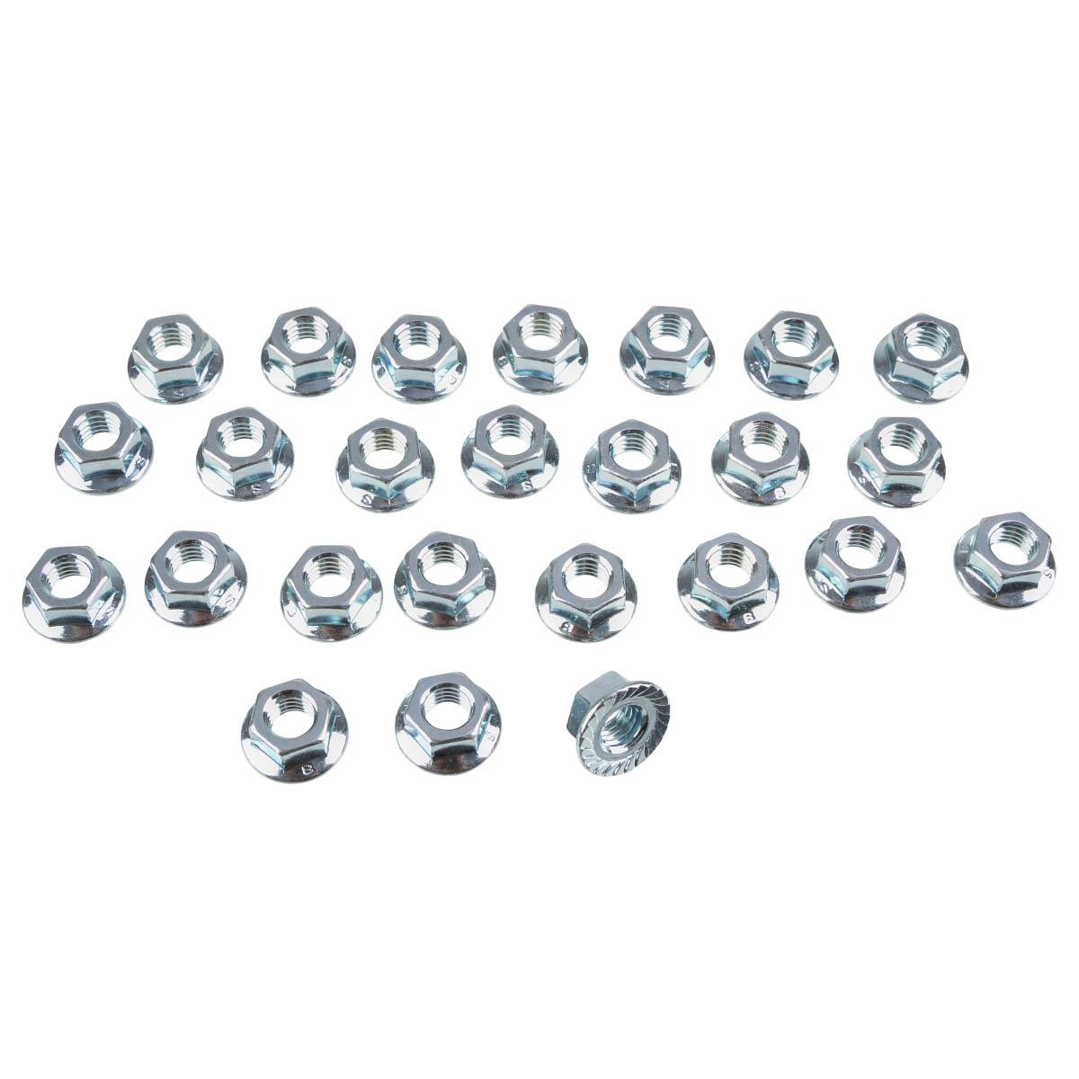 ZAP Aluminium Nut M8, 25 Pieces