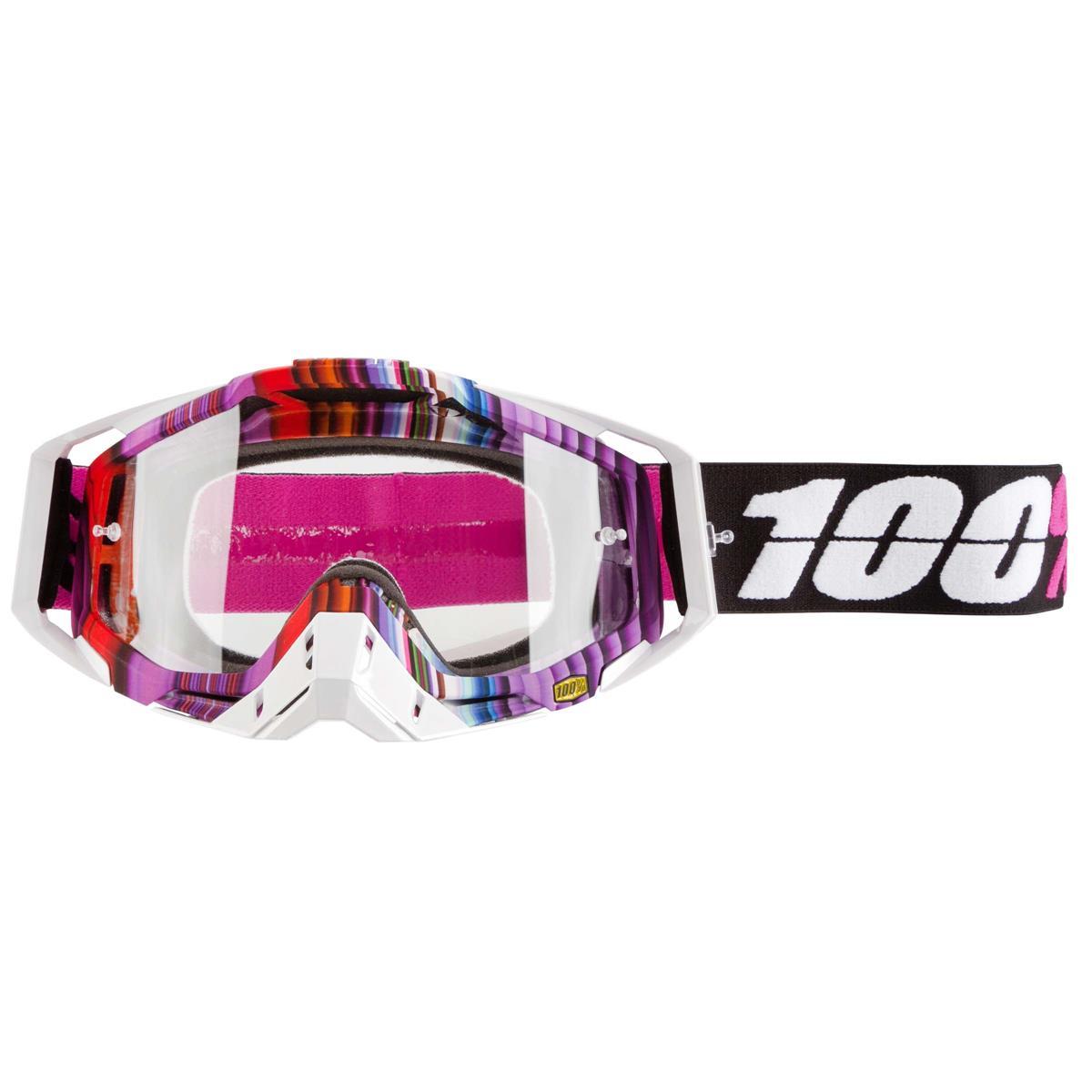 100% Crossbrille The Racecraft Glitch - Klar Anti-Fog