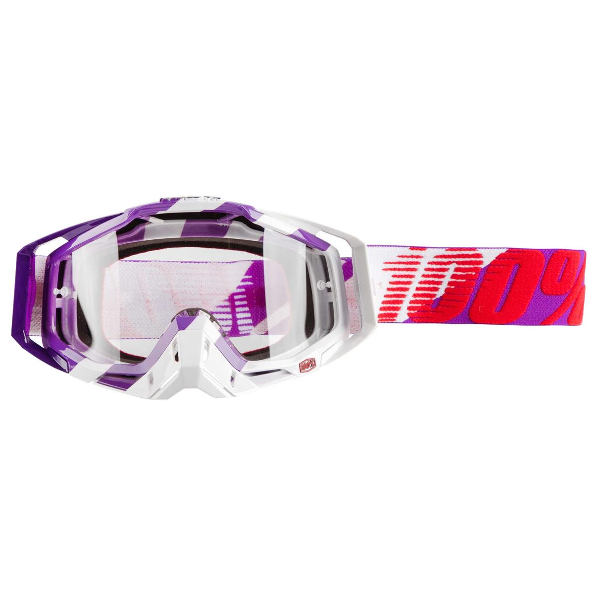 100% Crossbrille The Racecraft Purple Main - Klar